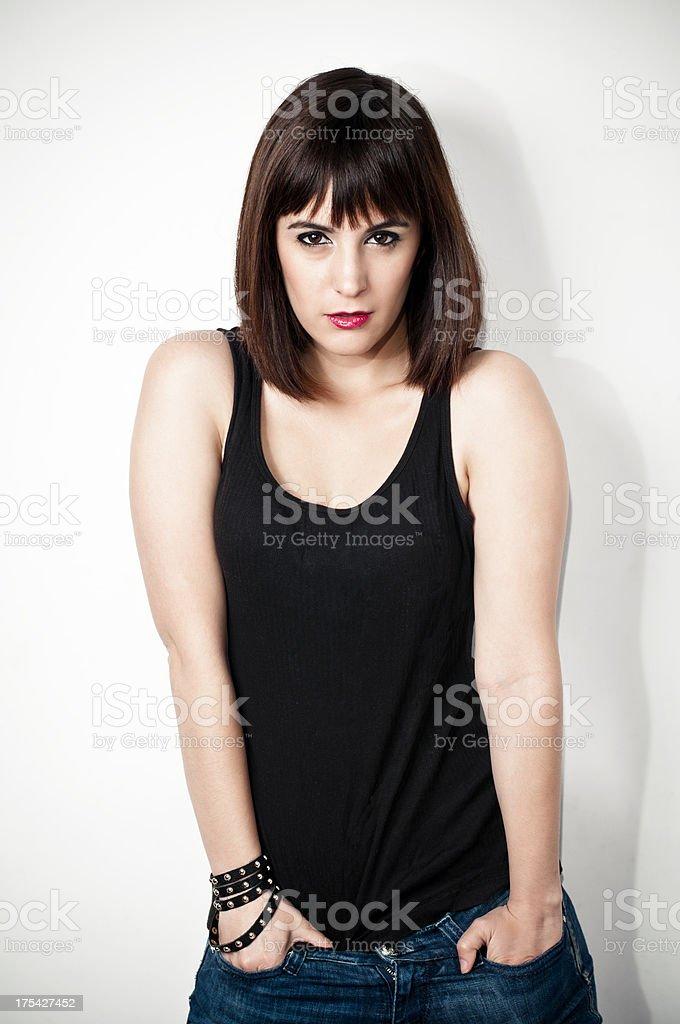 This girl rocks royalty-free stock photo