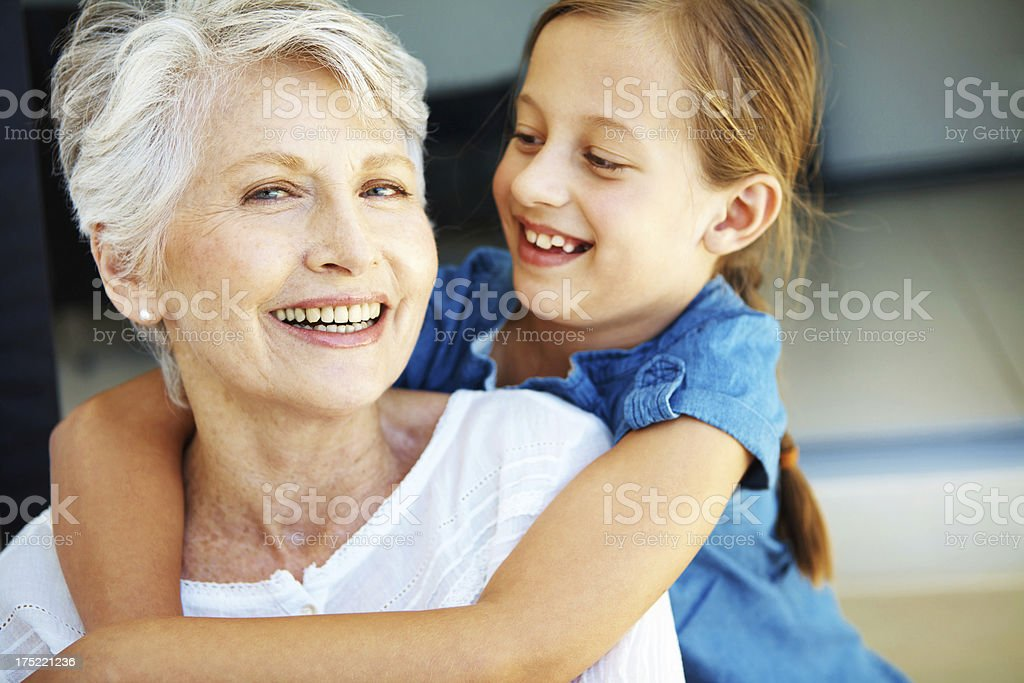 This grandmother's feeling loved! royalty-free stock photo