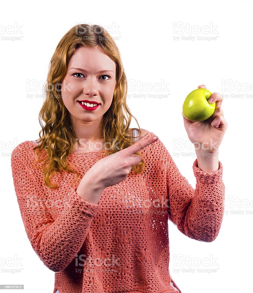 This green apple royalty-free stock photo
