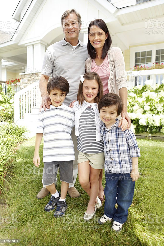 This happy family has a great home royalty-free stock photo