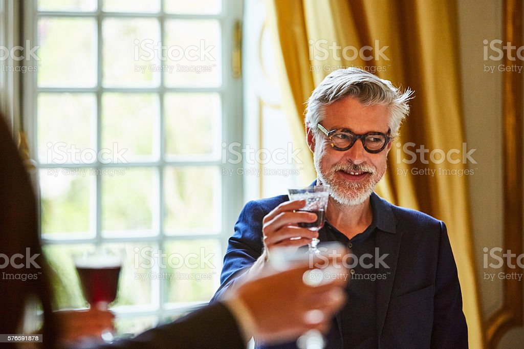 This has been a fine gathering stock photo