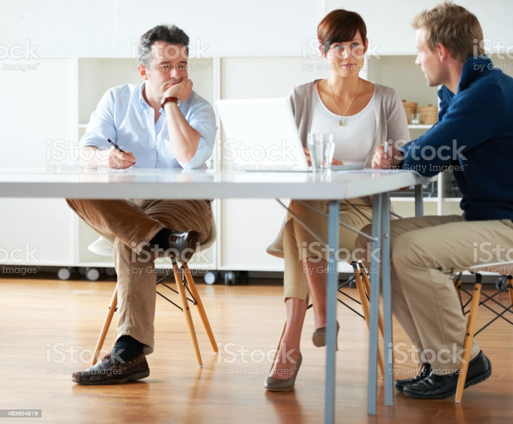 This has been a long meeting... royalty-free stock photo