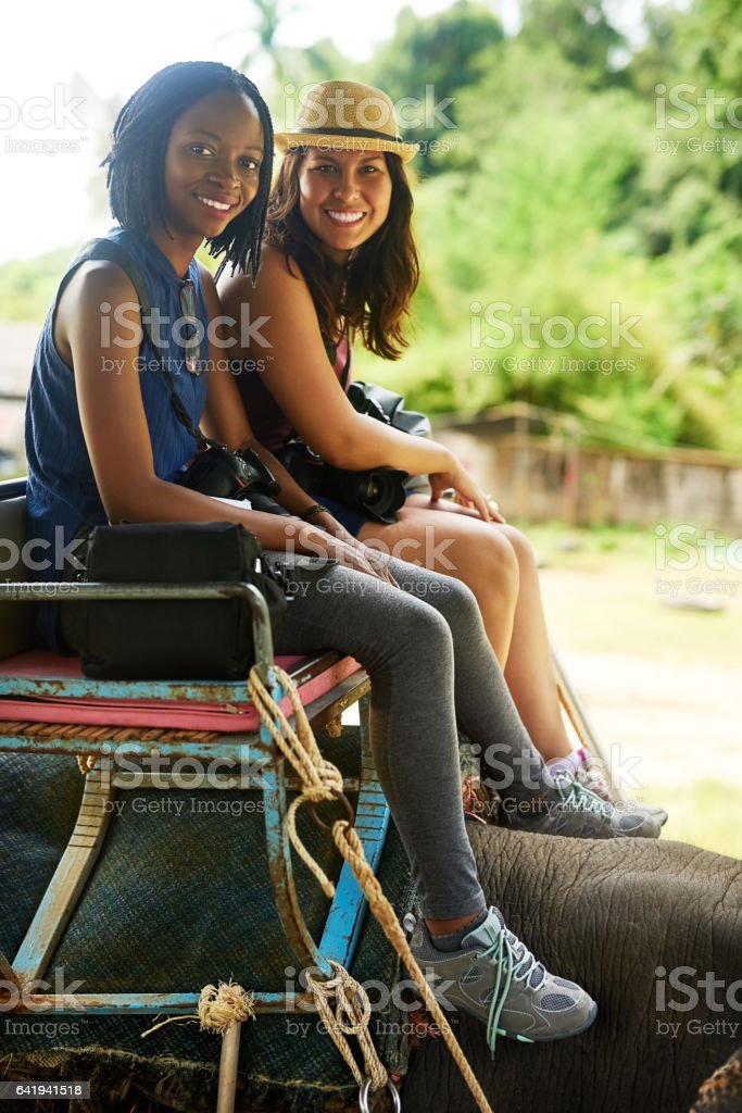 This has definitely been the highlight of our travels stock photo