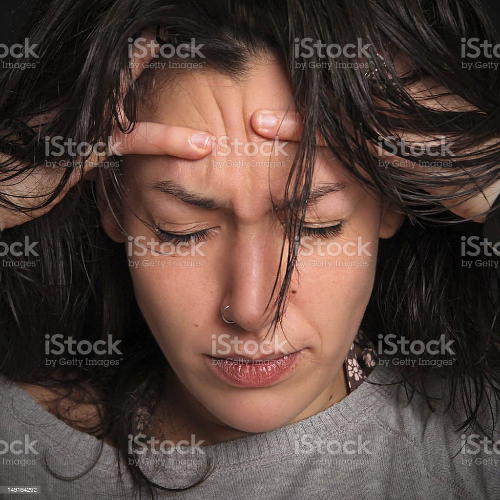 this headache is killing me !!! royalty-free stock photo
