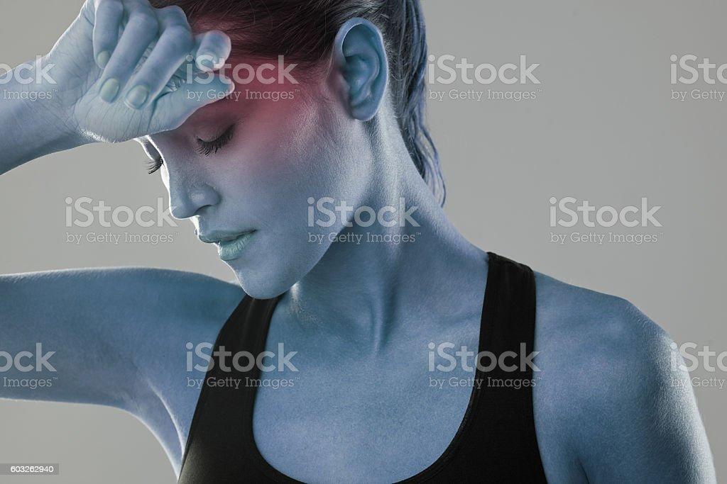 This headache just won't go away stock photo