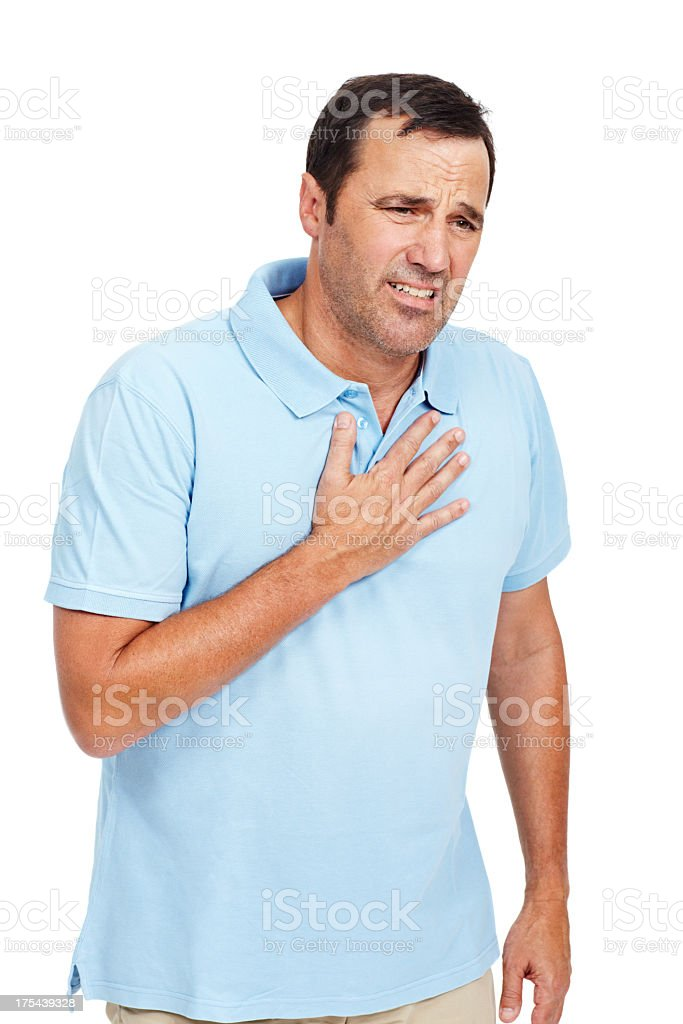 This heartburn is awful stock photo