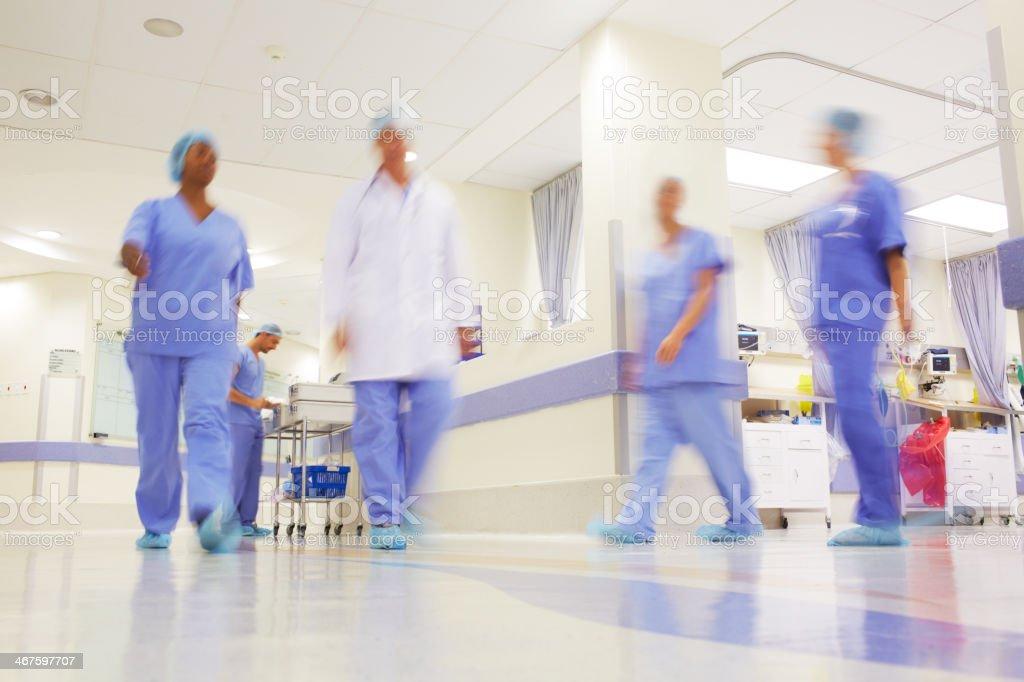 This hospital buzzes stock photo