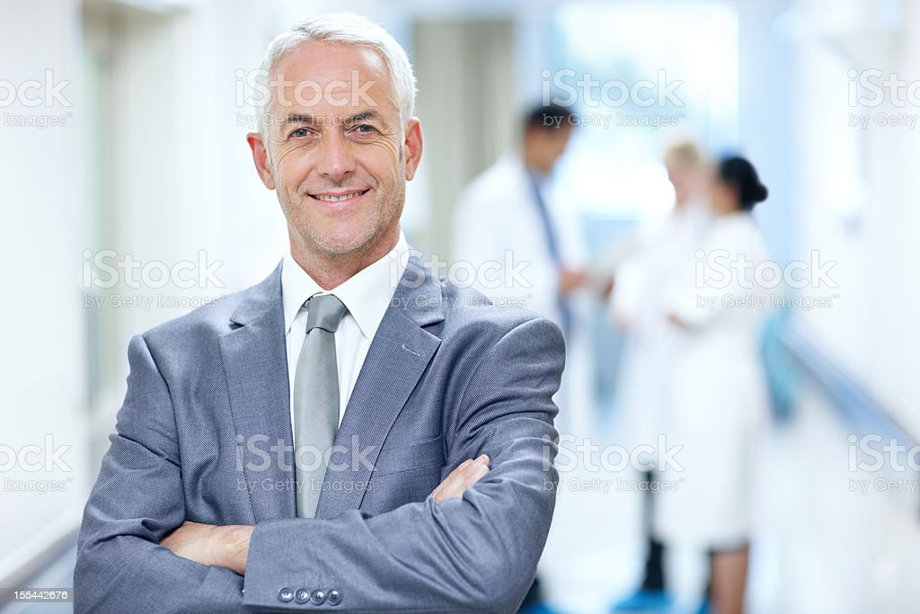 This hospital is run by experts stock photo
