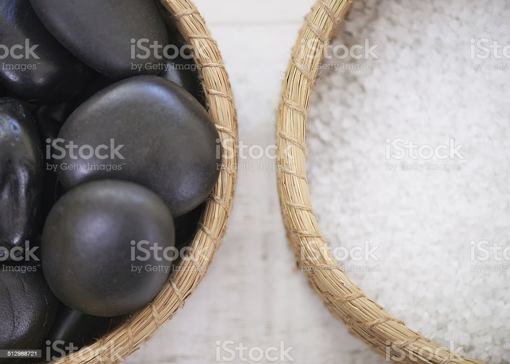 This hot stone massage is waiting for you... stock photo