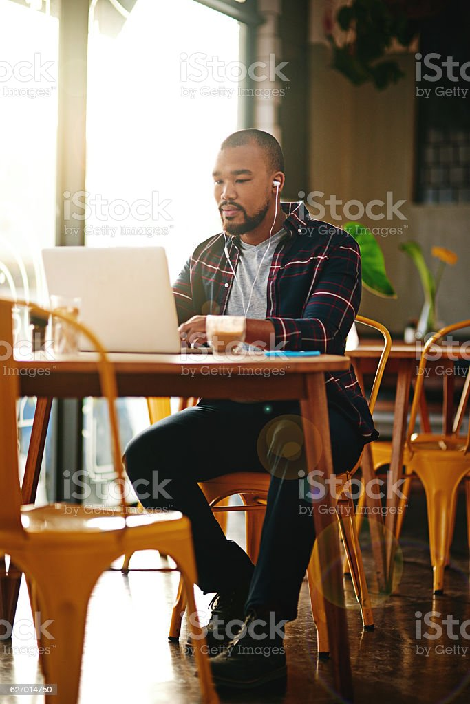 This hot-spot offers more than just hot beverages stock photo