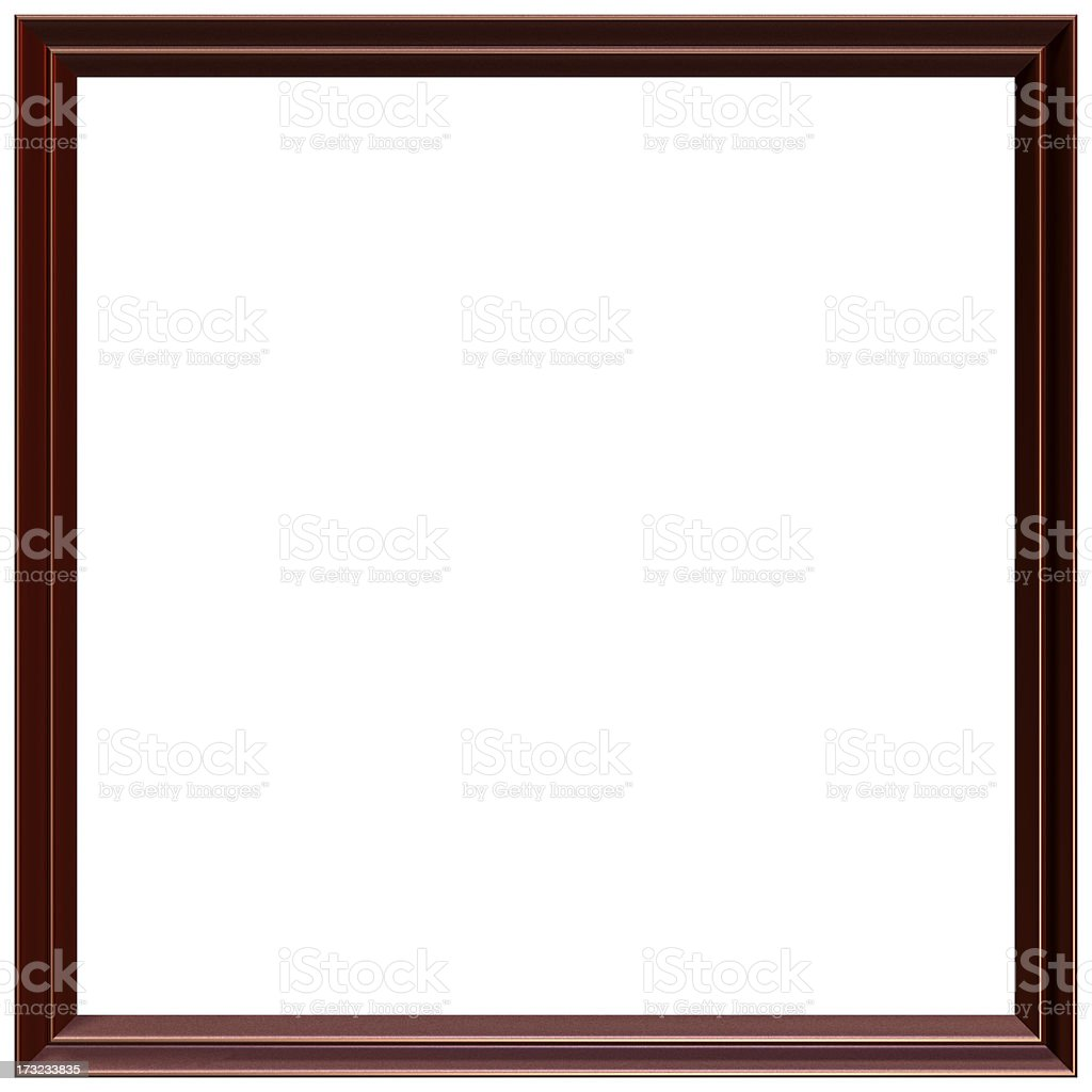 Square picture frame 3D render royalty-free stock photo