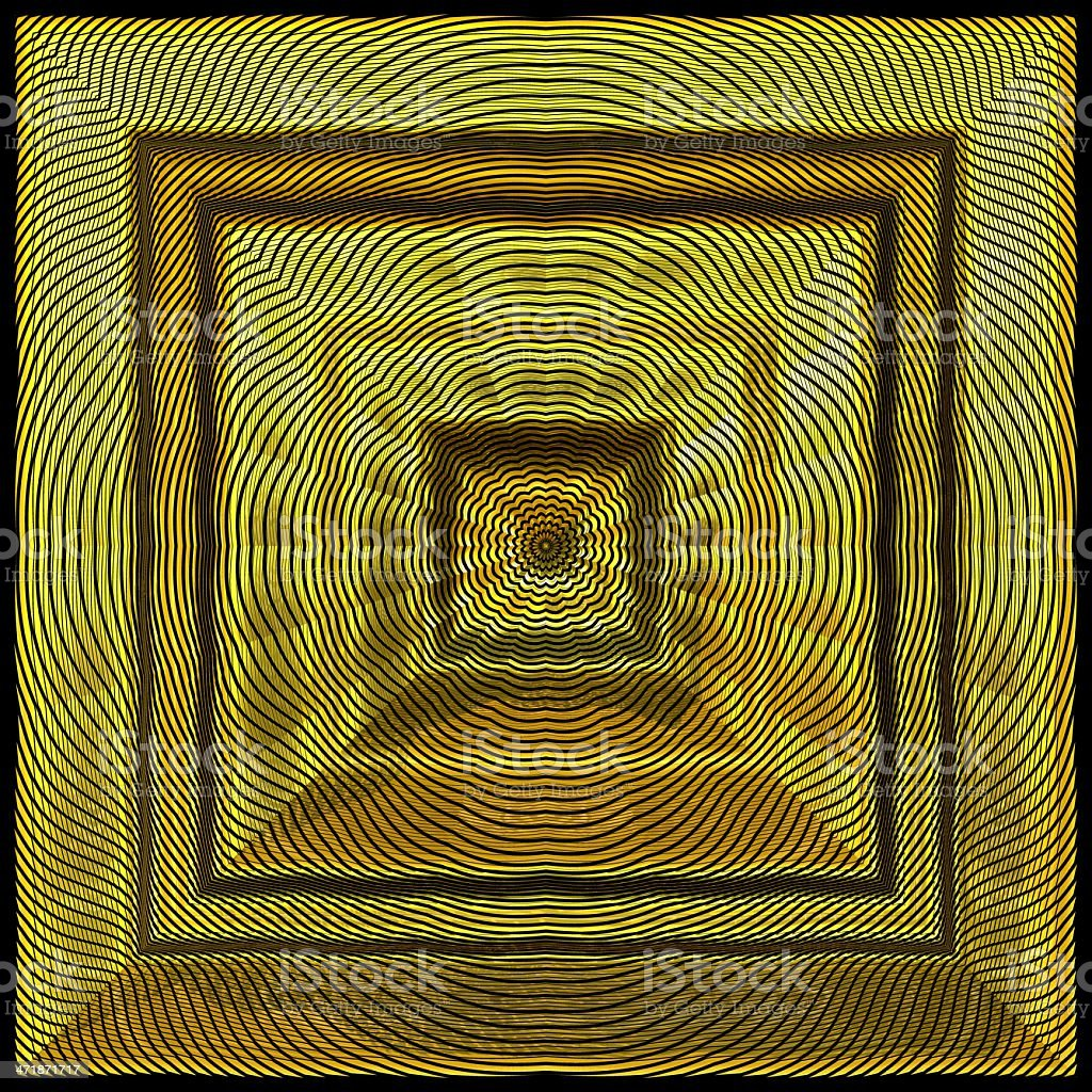Square gold panel decoration 3D render royalty-free stock photo