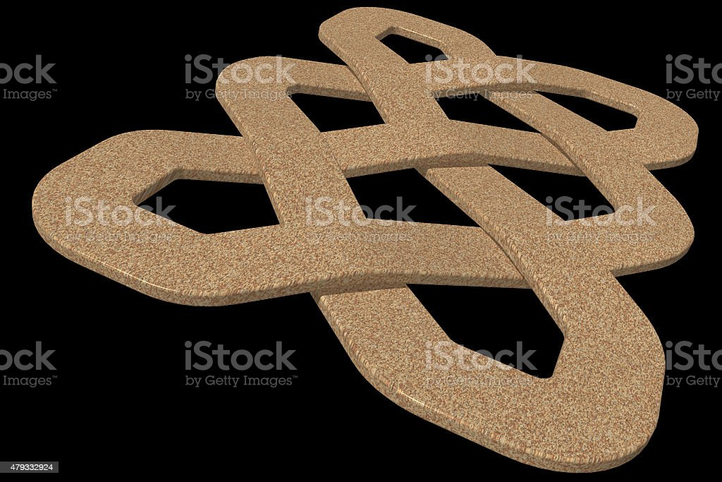 Celtic knot in 3D render stock photo