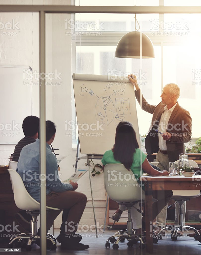 This is a company with vision stock photo