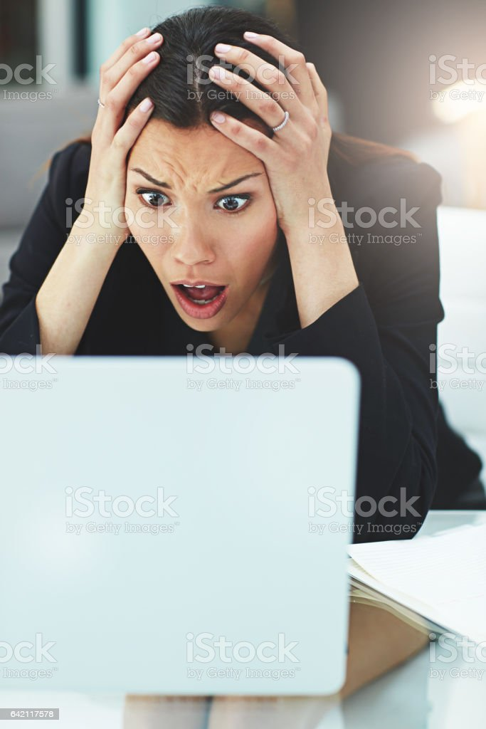This is a disaster! stock photo