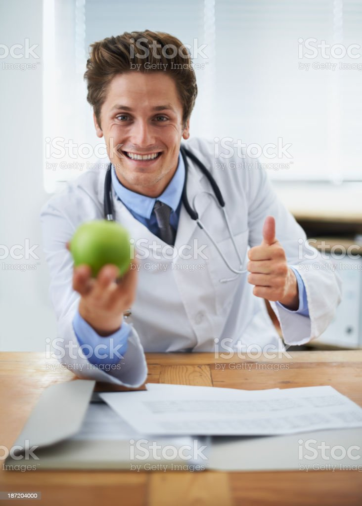 This is a good start to better health! royalty-free stock photo