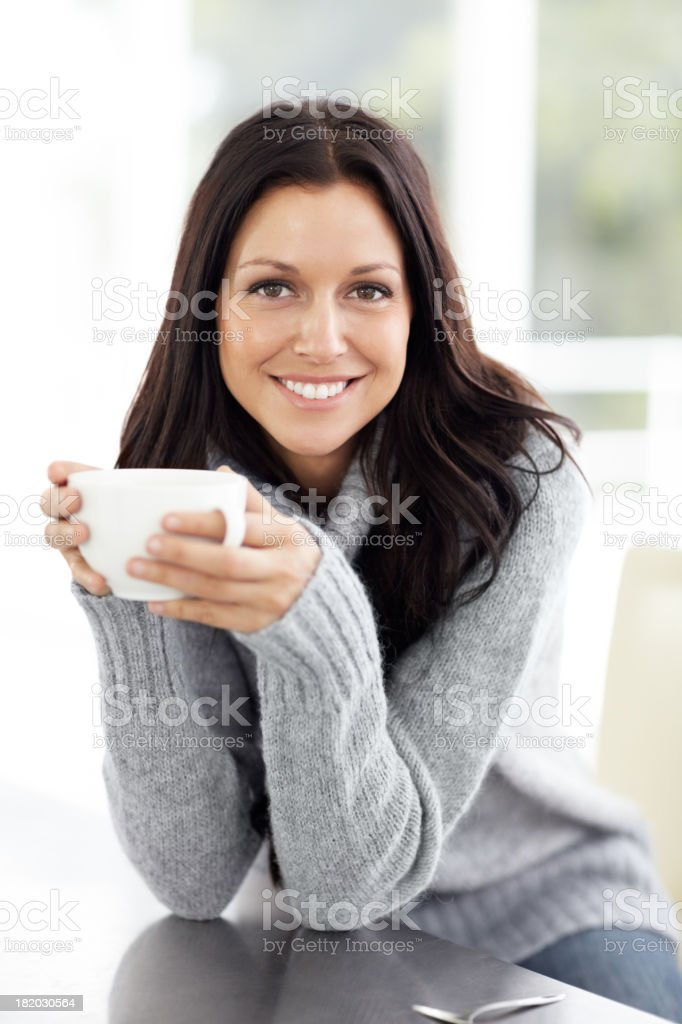 This is a great cup of coffee! royalty-free stock photo