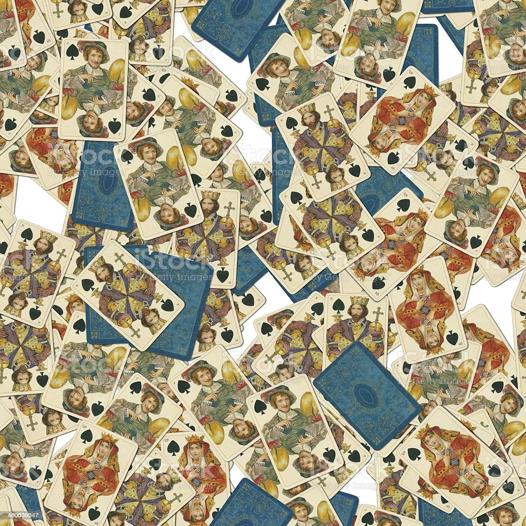 Dondorf Shakespeare spades playing cards seamless tile pattern stock photo