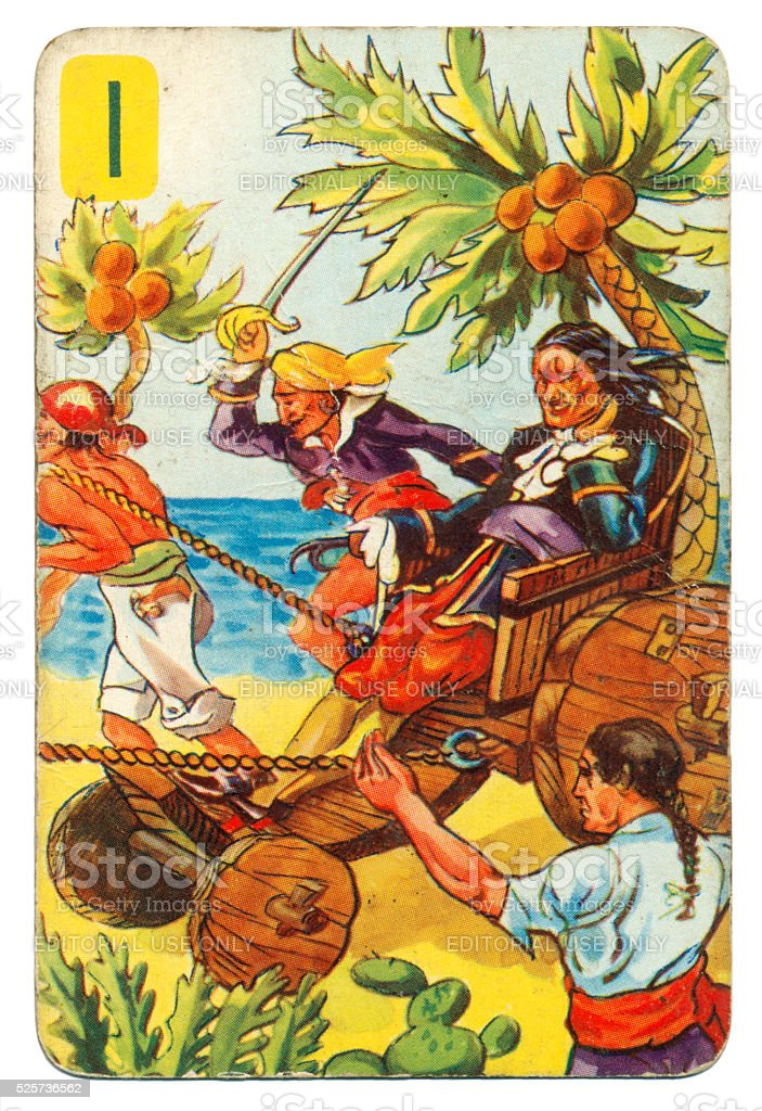 Peter Pan and Wendy Pepys playing card 1939 stock photo