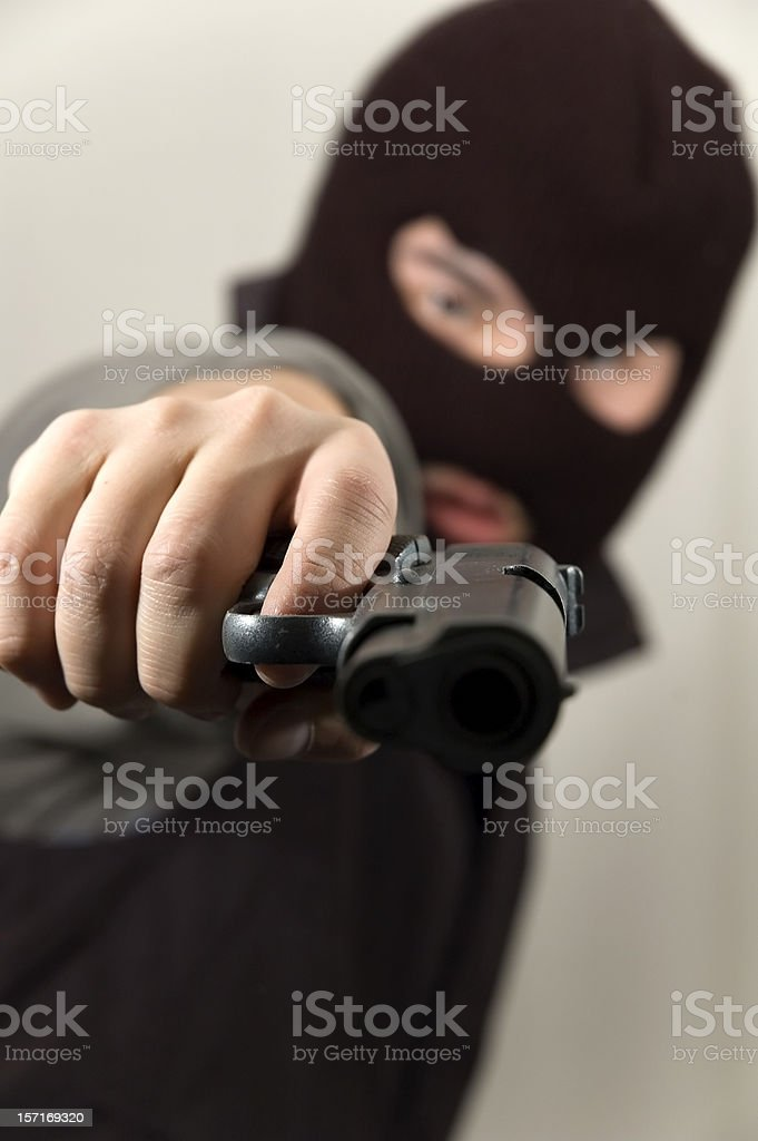this is a stick up (tilted) royalty-free stock photo