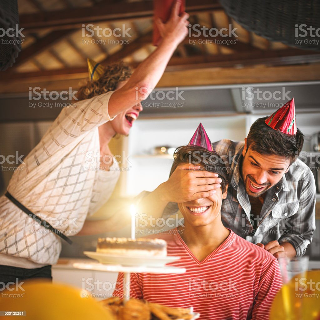 this is a surprise birthday stock photo
