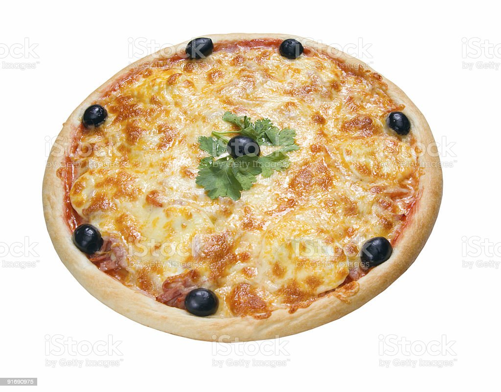 This is a tasty pizza royalty-free stock photo