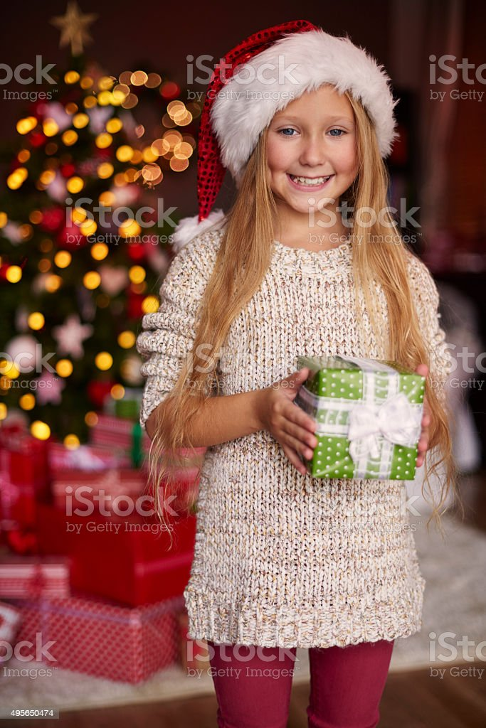 This is a very special gift for me stock photo