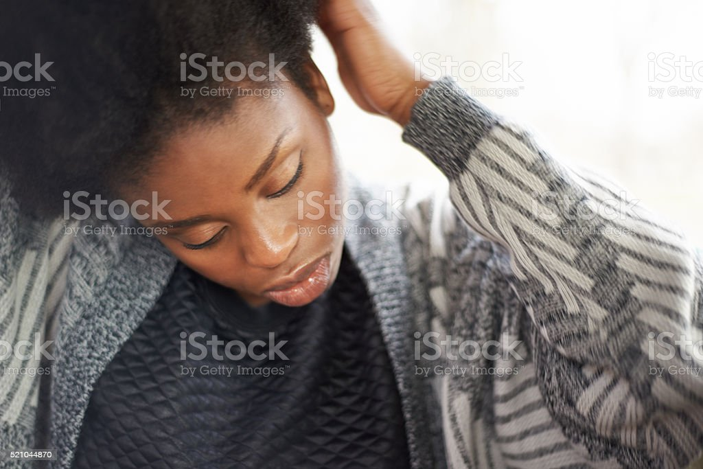 This is going to be a good hair day stock photo