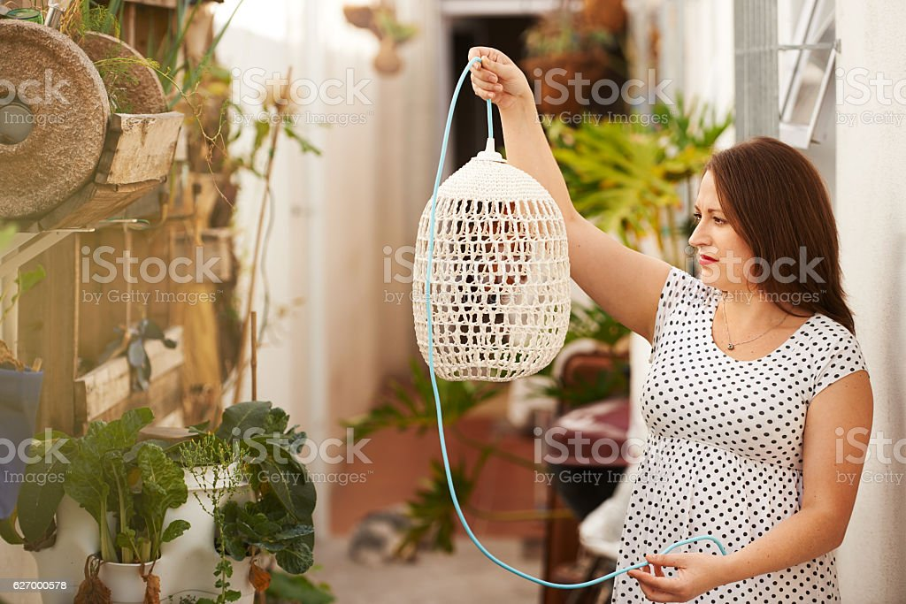 This is going to look perfect! stock photo