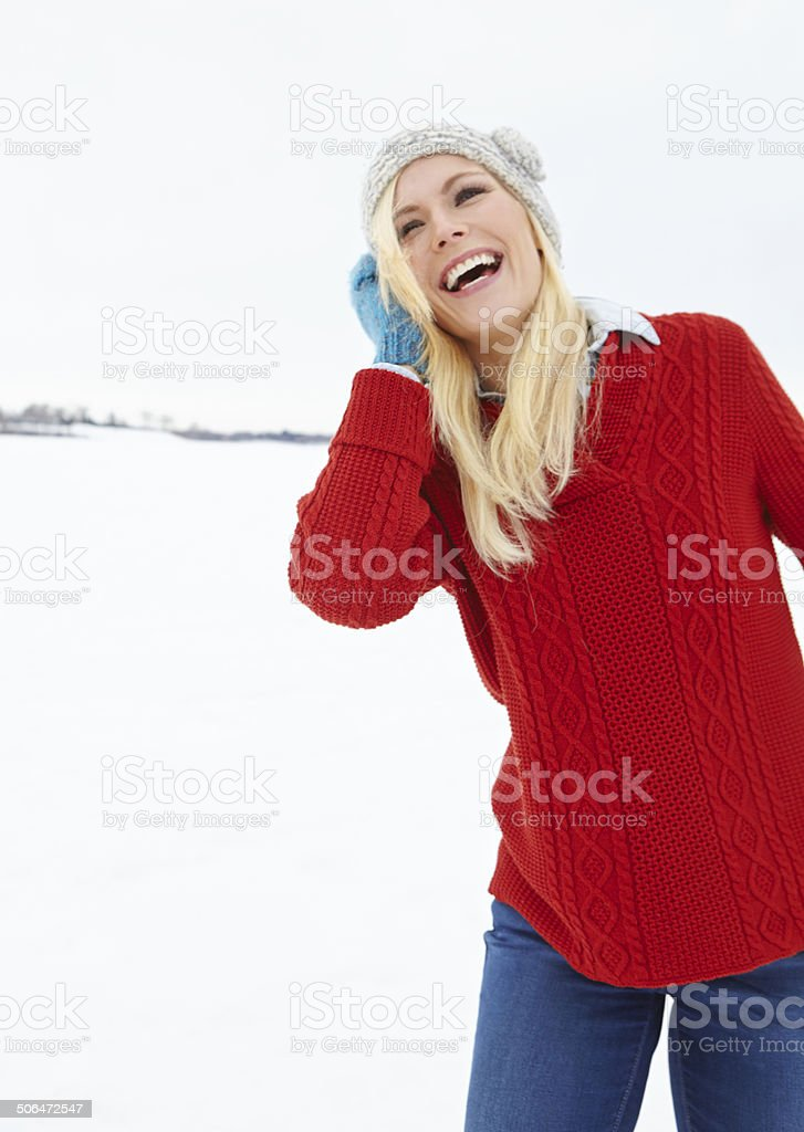 This is her favourite kind of weather royalty-free stock photo