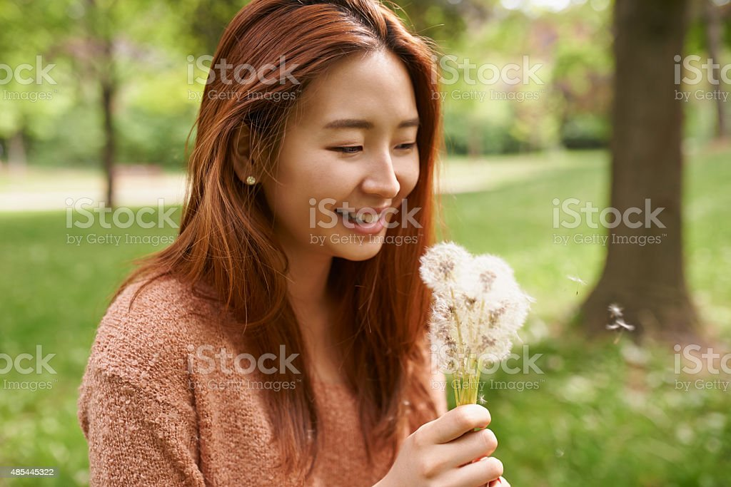 This is her happy place stock photo