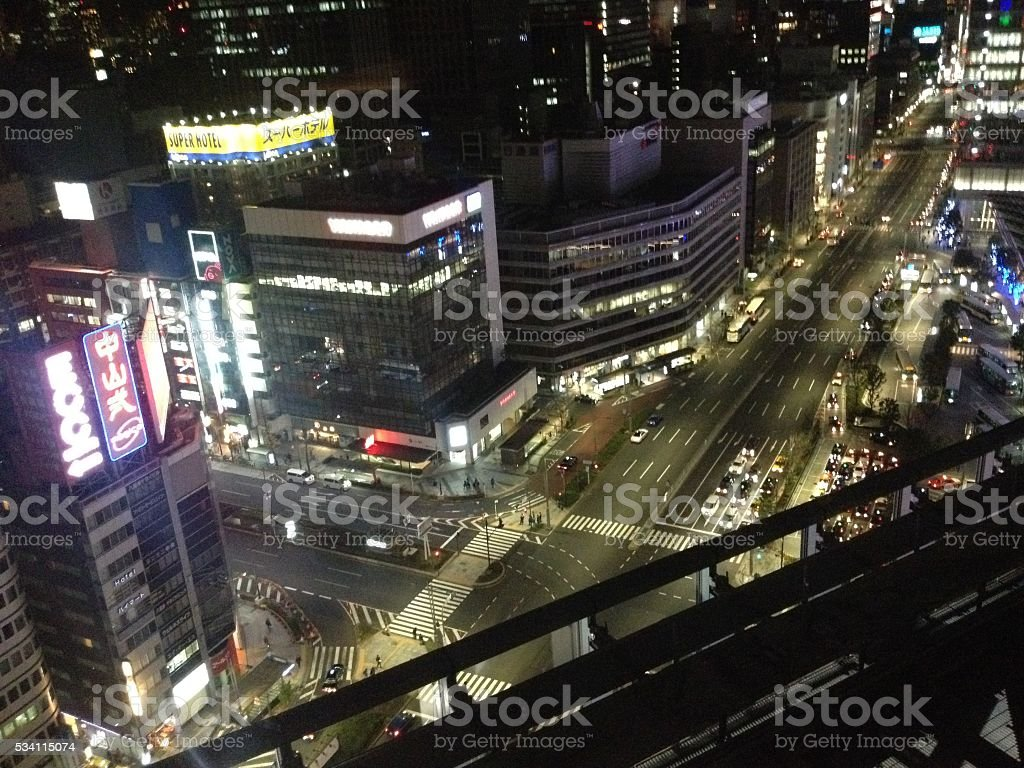 This is japan night royalty-free stock photo