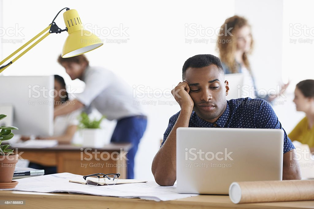 This is mind-numbingly boring... stock photo