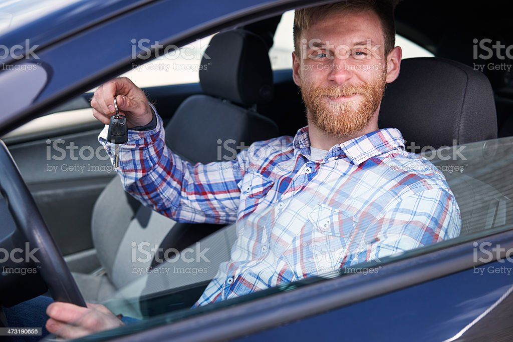 This is my first car! stock photo