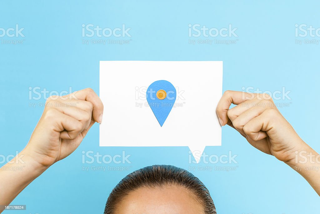 This is my location concept royalty-free stock photo
