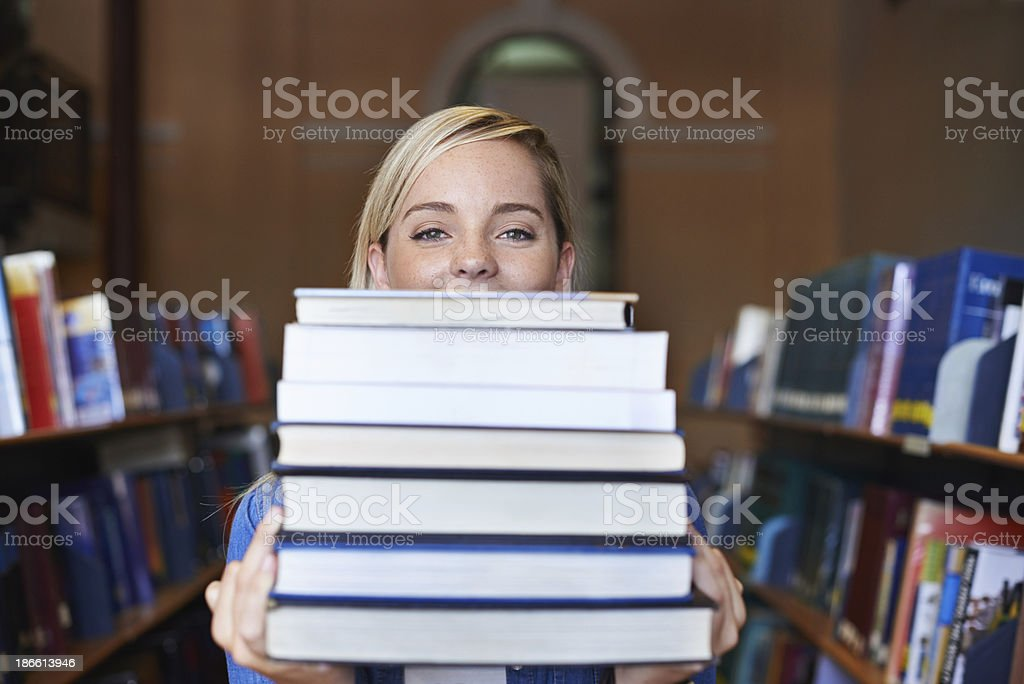 This is my study material for the semester royalty-free stock photo