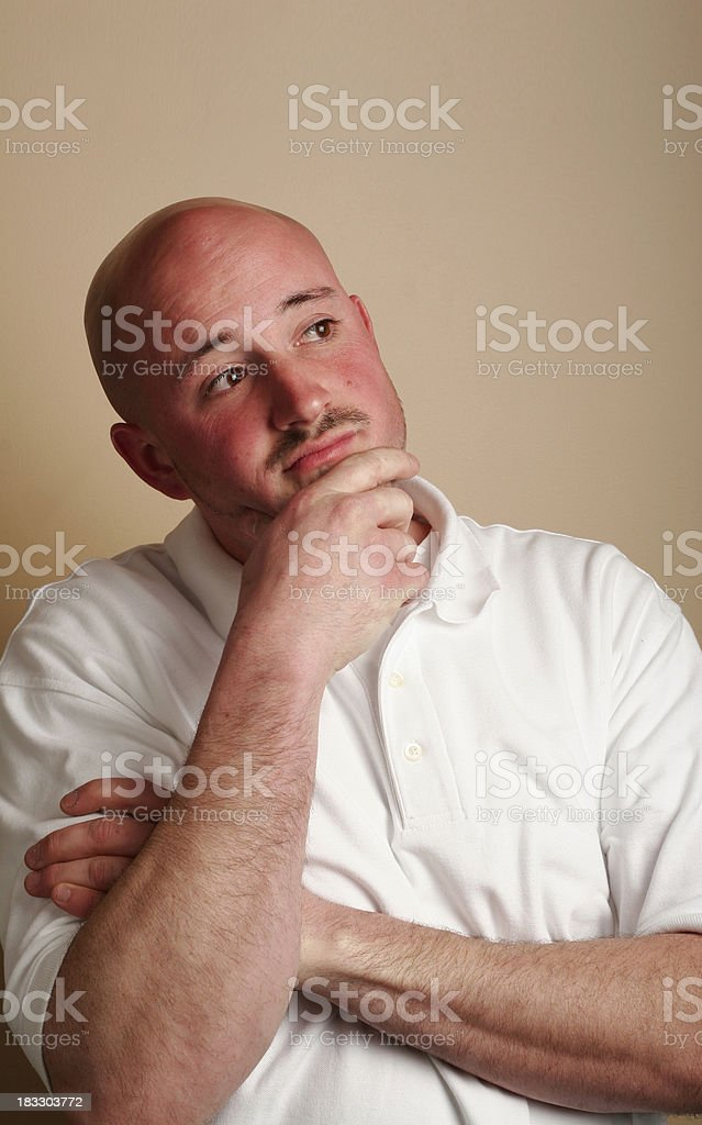 this is my thinking pose stock photo