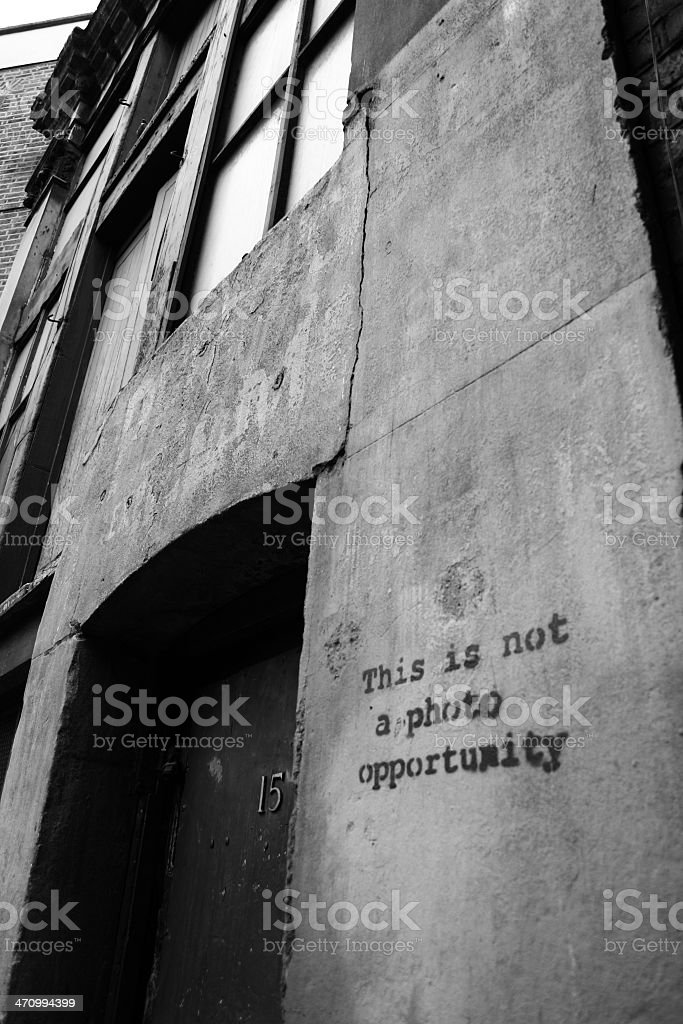 this is not a photo opportunity royalty-free stock photo