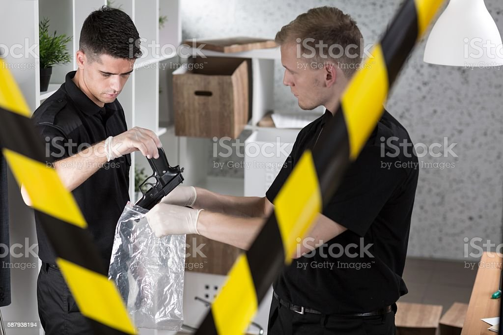 This is our crucial evidence stock photo