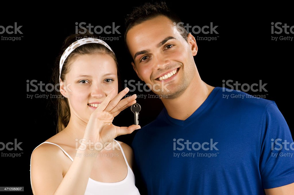 This is our new home key! royalty-free stock photo