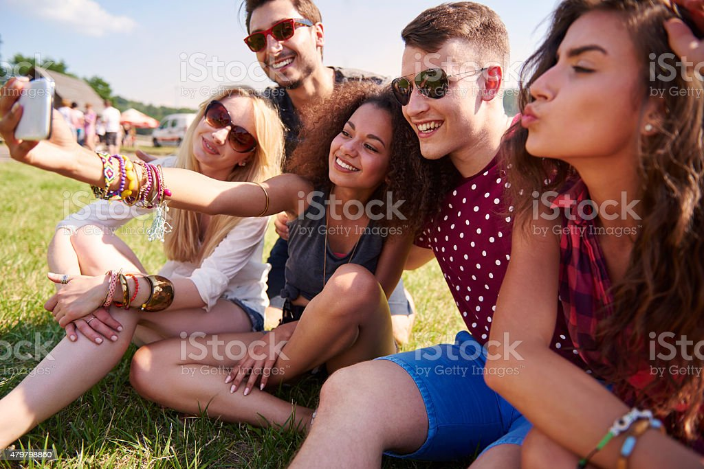 This is the best weekend in our lives stock photo