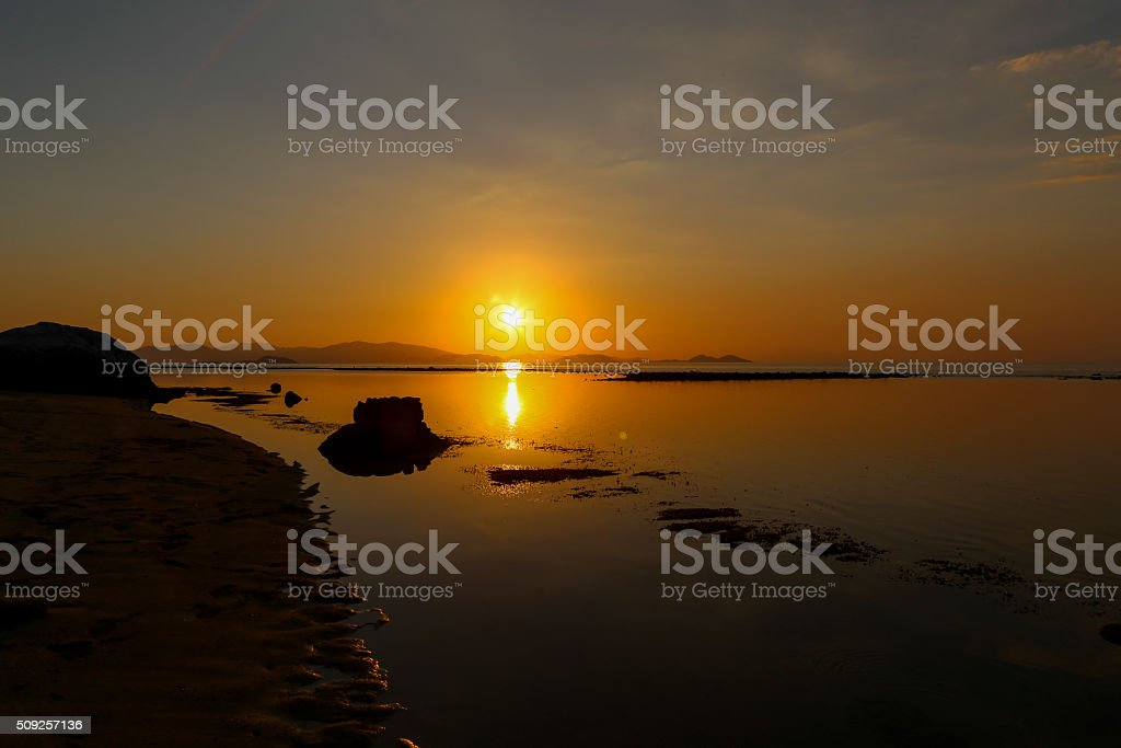 This is the end of the day. stock photo
