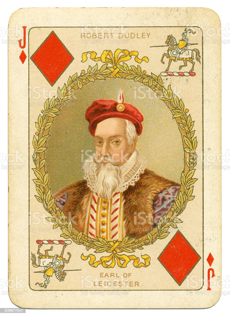 Robert Dudley Earl of Leicester Jack of Diamonds stock photo