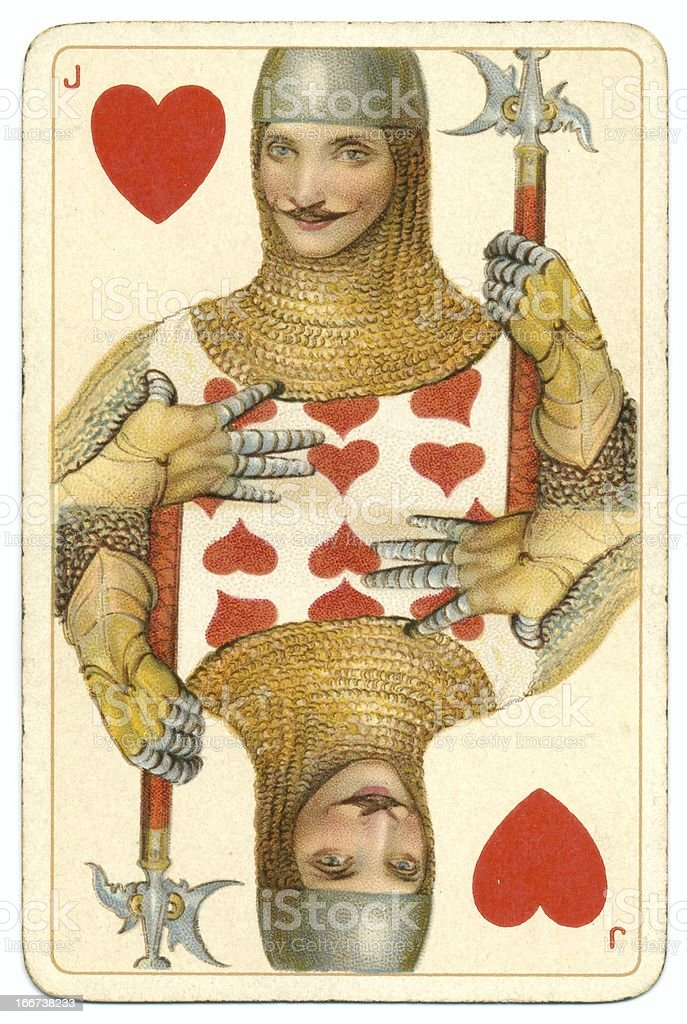 Jack of Hearts original Shakespeare vintage Dondorf playing card stock photo