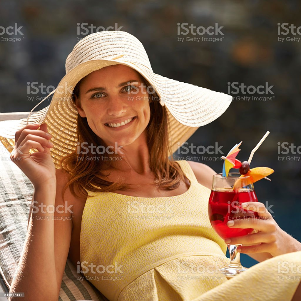 This is the life!!! stock photo