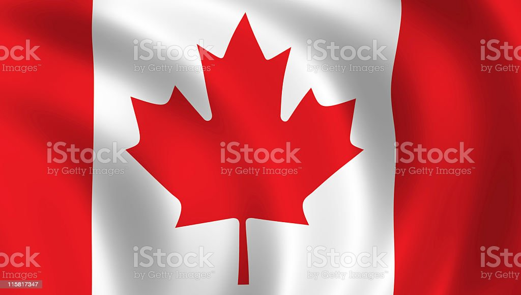 This is the national flag of Canada royalty-free stock photo