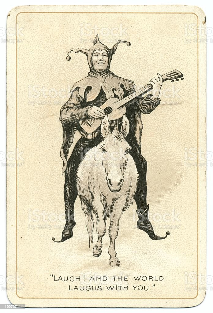 Joker antique Dondorf playing card stock photo