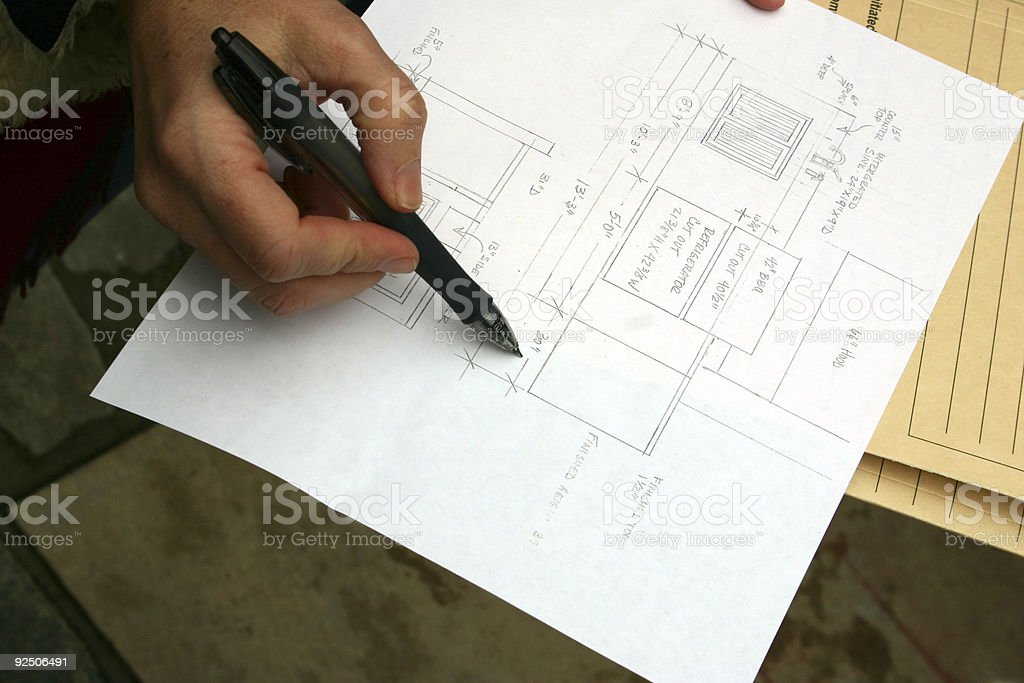 This is the plan royalty-free stock photo