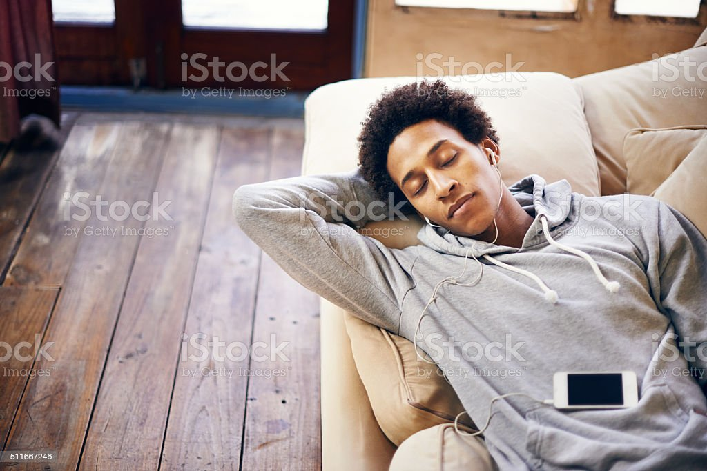 This is the sound of Sunday stock photo