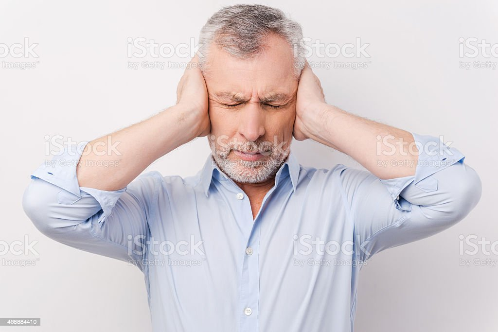 This is too loud for me! stock photo
